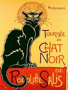 "Chat Noir poster by Steinlen 16"" x 20"""