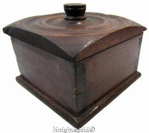 Jewellery Keepsake Turned Wood Box Storage Container 11 x 14.7 cm