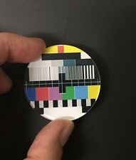 Funky Retro 60s 70s Television Tv Colour Screen Geek Kitsch Quirky Brooch Pin