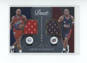 2020-21 Panini Select - Duet Selections Dual Game-Worn Jersey - Charles Barkley