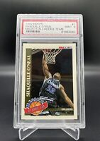 1992 HOOPS SHAQUILLE O'NEAL MAGICS ALL ROOKIE TEAM #1 RC PSA 9 SP MINT RED HOT