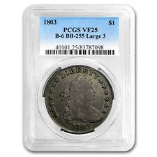 1803 Draped Bust Dollar VF-25 PCGS (Large 3)