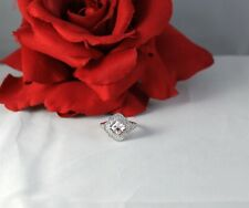 Sterling Silver Sparkling Nvc Diamonique 2.8g Size 6 Ring Cat Rescue