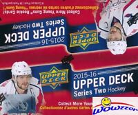 2015/16 UD Series 2 Hockey HUGE 24 Pack Retail Box-192 Cards+6 Young Guns ROOKIE