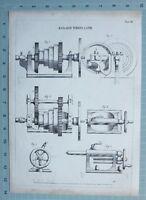 1847 Ingegneria Stampa Schiena Ingranaggio Tornio