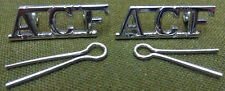 "Genuine British ""ACF"" Chrome Army Cadet Force Shoulder Title Badges BRAND NEW"