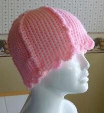 Handmade Crochet Beanie Chemo Cap Hat PINK One Size Fits Most Teen/Adult