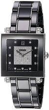 Fendi Women's Ceramic Black Diamond Dial Black Ceramic Quartz Watch F625110DPDC