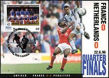 Football Maxicard 1996 France V Netherlands Handstamped #C26322