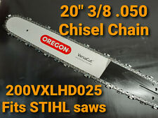 "20"" Oregon STIHL MS 311 MS311 Versacut Bar Chisel Chain Chainsaw 200VXLHD025"
