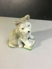 Figurine Ceramic Animal  Puppy/Dog Siberian Husky / Alaskan Malamute Dog