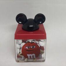 Disney Springs M&M's World Red Mickey Ears Cube Milk Chocolate New