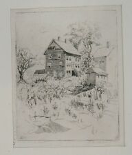 "House on ""Pigeon Hill, Rockport"" Etching-C.1930s-Ethel Gilmore"