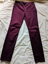 Wallis Ladies Burgundy/ Deep Red Skinny Jeans Jeggings Uk10 Inside Leg 30""