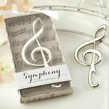 Boxed Music Clef Symbol Beer Bottle Opener Bomboniere Wedding Favors Party Gift