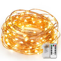120 LED String Lights on 40 Feet Copper Wire Rope Lights for Wedding Party Xmas