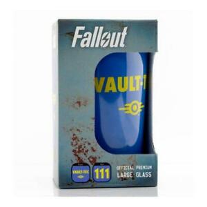 """Fallout Premium Glass (16.9oz) """" Vault 111 Drinking Water 16.9oz Large"""