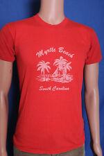 Vintage '70s 80s Myrtle Beach SC tourist faded broken in t shirt S