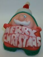 Vintage Dan Brechner Merry Christmas Santa Claus Plush Toy Ornament