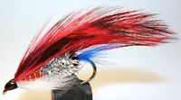 ICE FLIES. Streamer fly, Flaedarmus Red . Available in size 2, - 10 (3-pack)