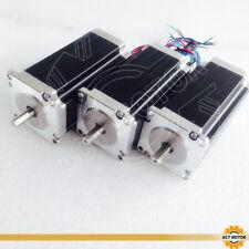 ACT MOTOR GmbH 3PCS Nema23 Schrittmotor 23HS2442P15 112mm 2.8Nm 4.2A D-Shaft 8mm