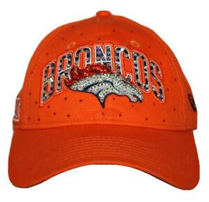 New Era womens Denver Broncos orange baseball hat cap w/ bling rhinestones NEW