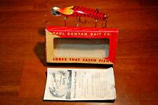 "New listing Vtge Paul Bunyan ""Ruby Transparent Dodger"" No. 900 Lure W/ Papers & Original Box"