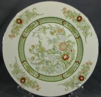 Mikasa Kabuki L9011 Dinner Plates (M2) Green Band Floral