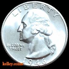 1946-S 25C Washington Silver Quarter  BU