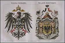 1890 ORIG. ANT.CROMOLITOGRAFIA *WAPPEN-STEMMI * Meyers.