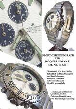 RARITAET-RARO JACQUES LEMANS cronografo in acciaio inox massiccio JL 878