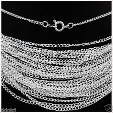 Free shipping 10pcs Silver Plated chain With Clasp Chain Finding 43cm,2mm