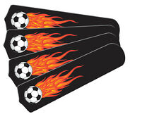"""New HOT FLAMES SOCCER BALLS SPORTS 42"""" Ceiling Fan BLADES ONLY"""