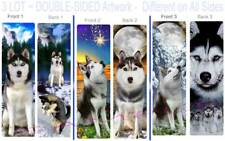 3 Set-Siberian Husky Bookmark-Sled Snow Dog Art Alaskan Malamute Book Card Gift