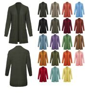 FashionOutfit Women's Long Sleeve Soft Popcorn Knit Sweater Open Front Cardigan
