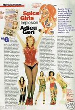 Coupure de Presse Clipping 1998 (1 page) Spice Girls Adieu Geri Halliwell