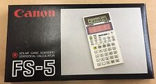 Vintage CANON SOLAR CARD SCIENTIFIC STATISTICAL CALCULATOR FS-5 RARE NEW IN BOX