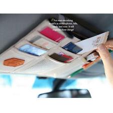 Car Sun Visor Point Pocket Organizer Pouch Bag Pocket Card Storage Holder Beige