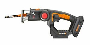 WORX WX550L 20V Axis 2-In-1 Reciprocating Saw And Jigsaw With Orbital Mode, Vari