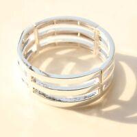 New Kenneth Cole Geometric Stretch Bangle Bracelet Gift FS Fashion Women Jewelry