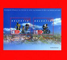 Switzerland SCOTT# 1149 Cycling Helvetia Swiss FDC Souvenir Sheet of 2