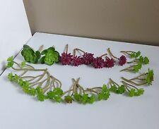 21 Miniature Plants Artificial Succulents Grass Fairy Garden Doll House Decor