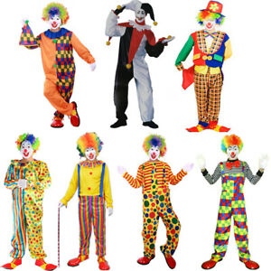 Funny Adult   Clown Costume Halloween Christmas Birthday Party Fancy Dress