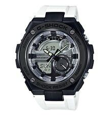 Casio G-Shock G-STEEL * GST210B-7A Black Steel Case White Resin PayPal #crzycod