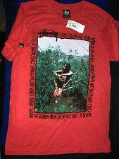 "Stussy X Supreme Peter Tosh ""Be Seen Tee"" Sz Small 420 Ganja Smoke Red"