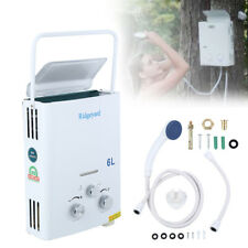 1.6GPM Portable Tankless Hot Water Heater Campers Propane Gas LPG 6L