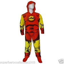 The Avengers Iron Man Hoodie One Piece Fleece Pajamas Marvel Comics Size Medium