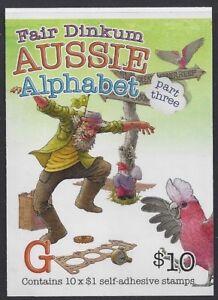 Australia 2017 Aussie Alphabet Part III  Booklet (G) Phil 765682 B750