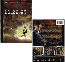 11.22.63 2016: Based on Stephen King 11/22/63 - TV Season MiniSeries NEW  DVD UK