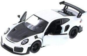 "5"" Kinsmart Porsche 911 GT2 RS Diecast Model Toy Car 1:36 White"